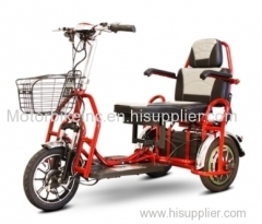 Mobility Scooter E-Wheels EW-02 Electric Folding Heavy Duty Bari atric Electric Three Wheeled Mobility Scooter