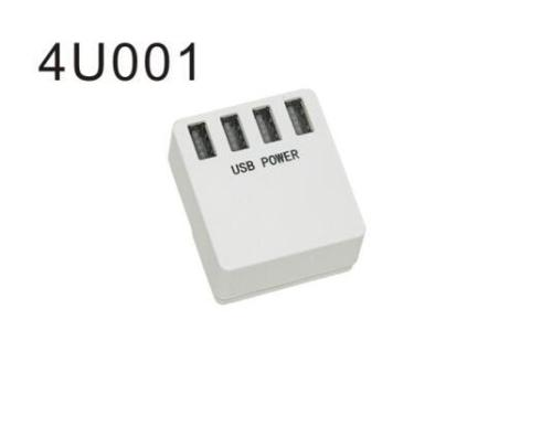 4 port USB charger travel adapter