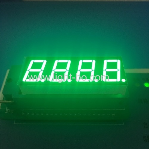 Common cathode pure green 0.56  4 digit led 7 segment display for instrument