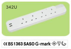 USB port power strip 4 Way