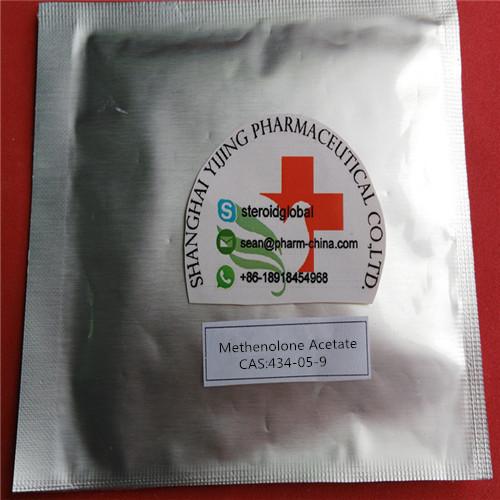 Poudre de hormone stéroïde brute Methenolone Acétate Médicale de qualité Poudre cristalline blanche