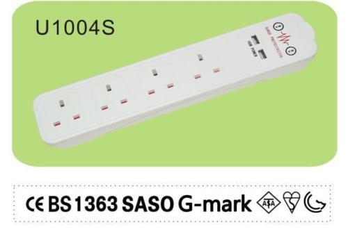 Surge Suppressor USB Power Strip 3 foot 4 foot 5 foot 6 foot 8 foot