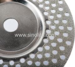 Алмазный гальванический деформированный шлифовальный круг 144 отверстия