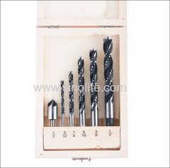 Wood Saw Drill Set 6pcs Size 5/32 1/4 5/16 3/8 1/2 countersink 1/2
