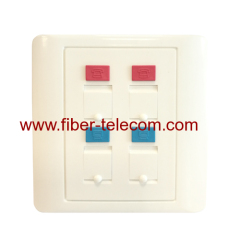 RJ45 Plastic Wall Outlets