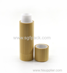 empty wooden lip balm tube