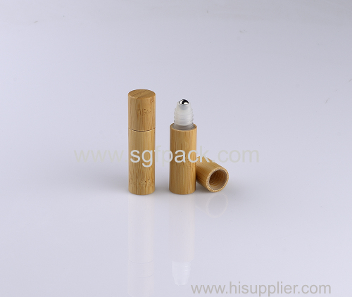 Bamboo roll on bottle pp plastic bottle steel bottle