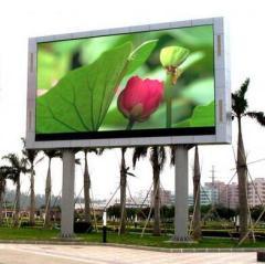 Exhibición llevada fija al aire libre del color del smd