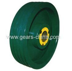 flat belt pulley made in china