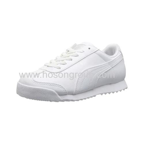 Unisex white casual lace children shoes