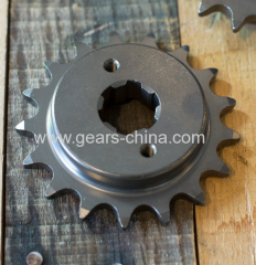 Embossed logo weld finish sprocket wheel idler sprocket for iron pipe welding