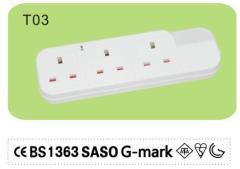 Usb plug extension lead 3 way 13amp