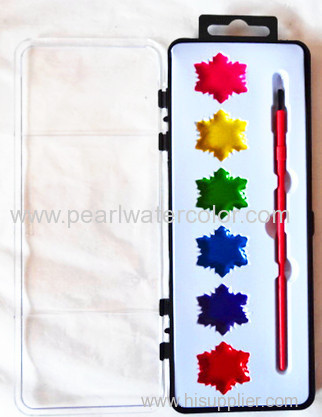 semi dry watercolor paint set