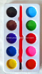 10 colors semi moist watercolor paint box