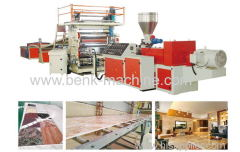 PVC DOUBLE -SCREW IMITATION MARBLE SHEET EXTRUSION LINE