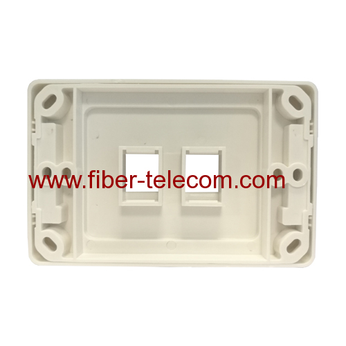 2 Port Network Socket Rj45 wall plate For Australia