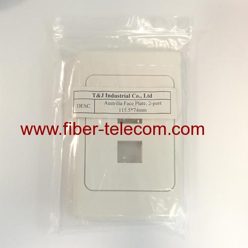 2 Port Network Socket Rj45 wall plate For Australia