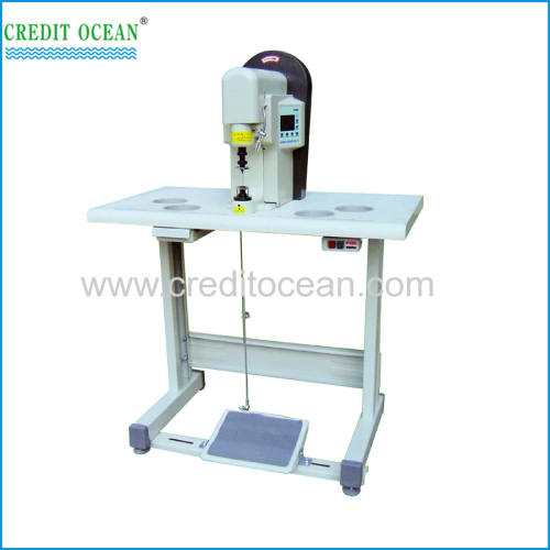 CREIDTI OCEAN Semi-automatic metal head shoelace/ hadbag lace tipping machine