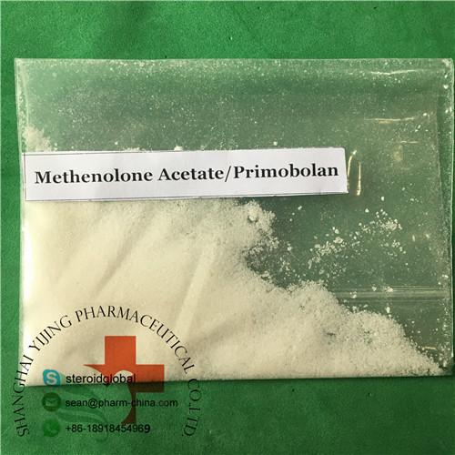 Polvo de Hormona Esteroidea Cruda Polvo Cristalino Blanco Grado de Medicina Aceta de Metenolona
