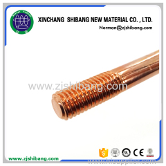 Strong corrosion resistance copper coated earthing rod