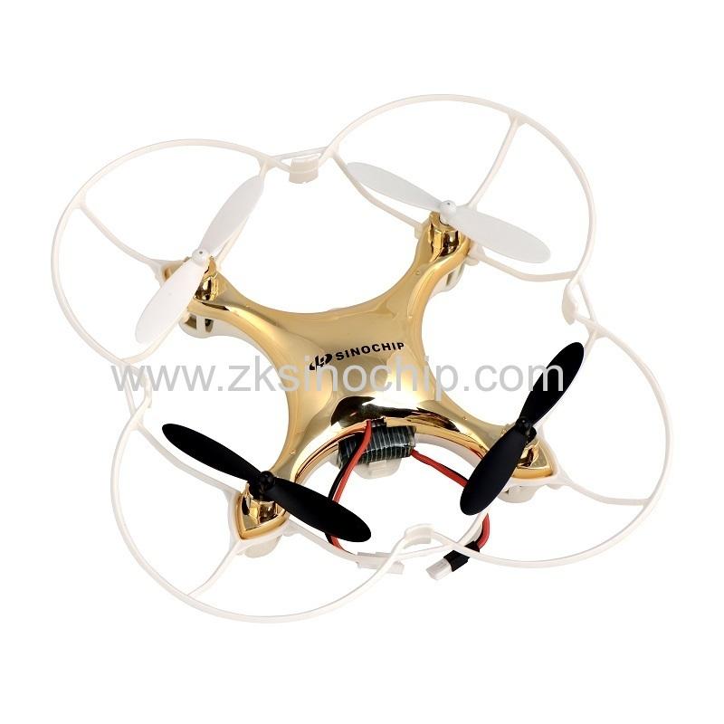 golden color mini remote control toy drone