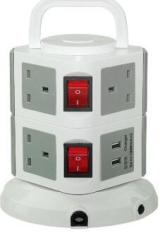 Universal power strip with surge protector 12 Way 4 USB 1 switch
