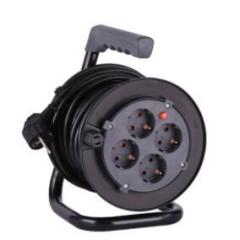 4 socket Germany plastic universal cable reel