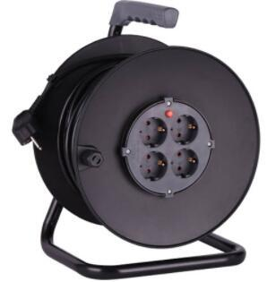 Electric extension cord mini retractable cable reel