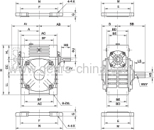 MOTOVARIO reducer . hydraulic lift Worm Reducer with hollow shaft