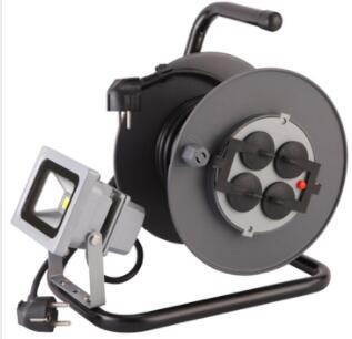 German standard with 4 sockets electric extension cable reel