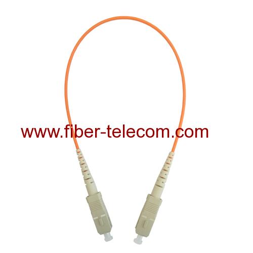 SC to SC MM Simplex Fiber Optic Patchcord 1M