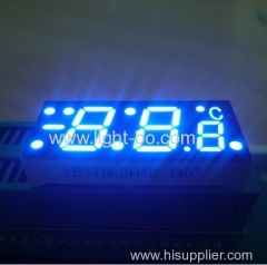 custom blue 7 segment; custom led display; temperature controller