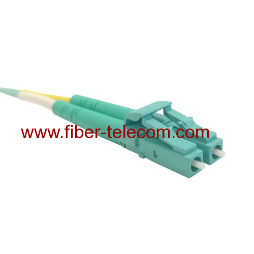 LC to LC OM3 Duplex Fiber Optical Patch Cable 1M