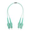 SC to SC OM3 Duplex Fiber Optical Patch Cable 1M