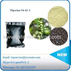 Black Pepper Extract Anticonvulsant Medicine Raw Powder Piperine