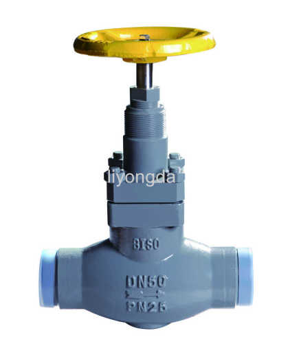 T type cast steel straight welding stop valve