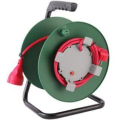 High quality garden cable reel with CE German Italian sockets plug extension reel