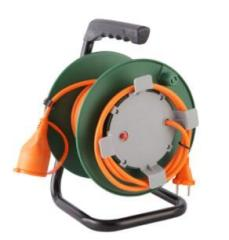 30m small german type cable reel electric socket hand hold 4 Outlets extension cable reel