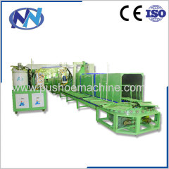 two color two density pu shoe injection moulding machinery