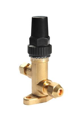 Brass angle stop valve