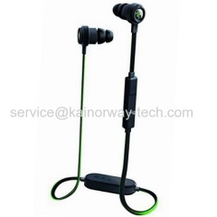 Razer Hammerhead Bluetooth Wireless In-Ear Headphone Headset Green Black In-Line Remote & Mic