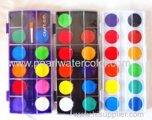 Dry watercolor paint set for kids