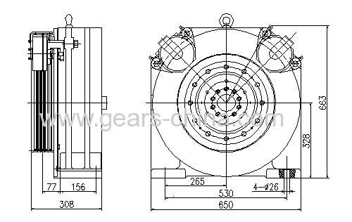 rare-earth permanent magnet (REPM)DC torque motor