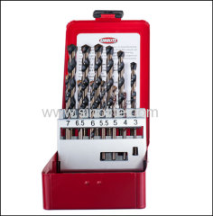 Multi-Purpose Drill Bits 7PCS METRIC Size: 3-4-5-5.5-6-6.5-7-8-9-10-11-12mm