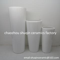 white colour ceramic vase set of three