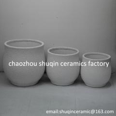 rough ceramic flower pot indoor flower pot for home decor