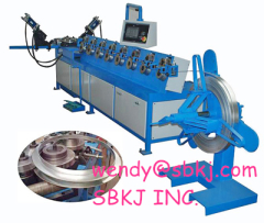 Round Pipe Flange Forming Machine for air duct