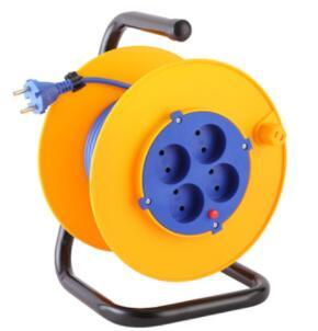Italy series cable reel 20M universal 4 outlet socket cable reel