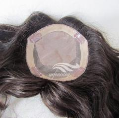 European human hair Crown Mono Hair Piece/ Toupee/Topper/wiglet for Women