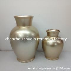 painting dolomite material flower vase for home decor